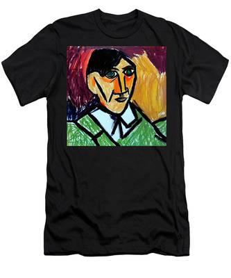 Pablo Picasso 1907 Self-portrait Remake Men's T-Shirt (Athletic Fit)