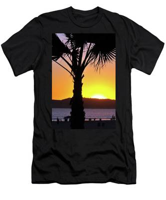 Men's T-Shirt (Athletic Fit) featuring the photograph Palm At Sunset by Howard Bagley