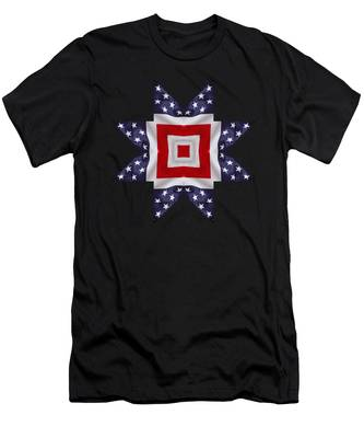 Patriotic Star 1 - Transparent Background Men's T-Shirt (Athletic Fit)