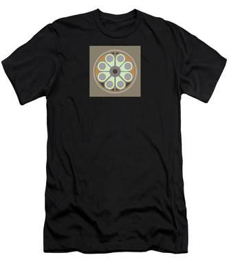 Peace Flower Circle Men's T-Shirt (Athletic Fit)