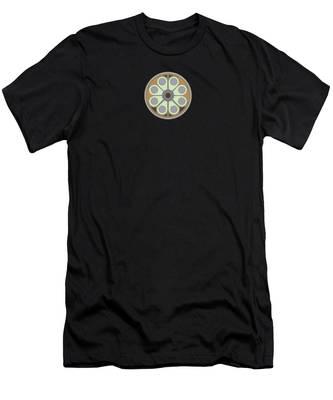Peace Flower Men's T-Shirt (Athletic Fit)