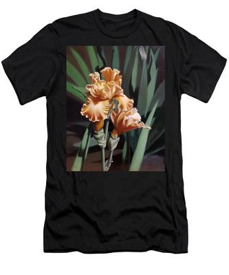 Peach Iris Men's T-Shirt (Athletic Fit)