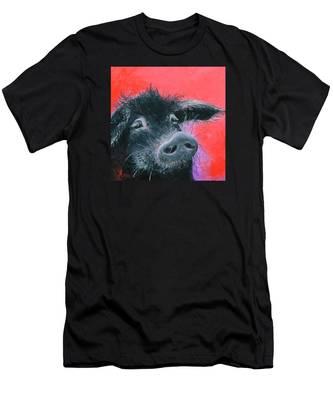 Percival The Black Pig Men's T-Shirt (Athletic Fit)