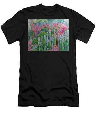 Perky Pink Phlox In A Dahlonega Garden Men's T-Shirt (Athletic Fit)