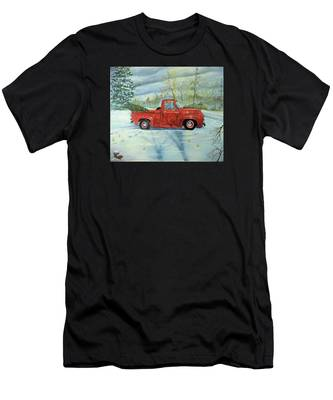 Picking Up The Christmas Tree Men's T-Shirt (Athletic Fit)