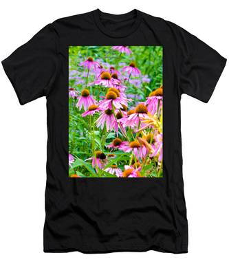 Pink Coneflower Men's T-Shirt (Athletic Fit)