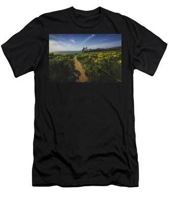 Men's T-Shirt (Athletic Fit) featuring the photograph Point Dume Spring Wildflowers by Andy Konieczny