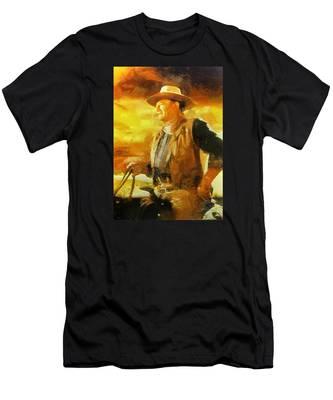 Portrait Of John Wayne Men's T-Shirt (Athletic Fit)