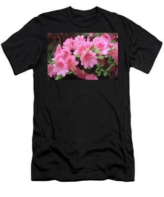 Pretty Pink Azalea Blossoms Men's T-Shirt (Athletic Fit)