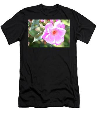 Pretty Pink Rose Men's T-Shirt (Athletic Fit)