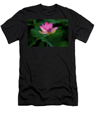 Men's T-Shirt (Athletic Fit) featuring the photograph Profile Of A Lotus Lily by Dennis Dame