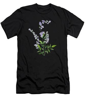 Purple Tiny Flowers Men's T-Shirt (Athletic Fit)