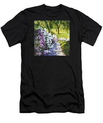 Purple White Men's T-Shirt (Athletic Fit)