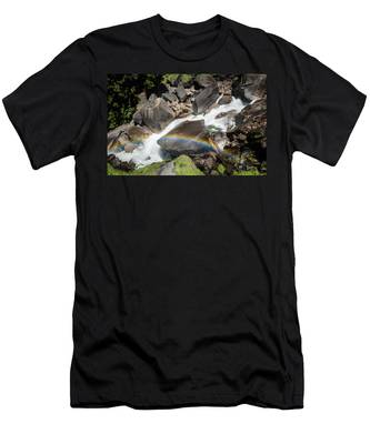 Rainbow At Vernal Falls- Men's T-Shirt (Athletic Fit)