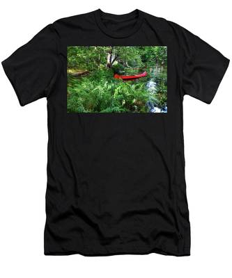 Red Canoe In The Adk Men's T-Shirt (Athletic Fit)