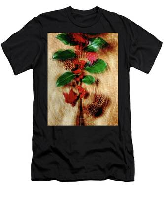 Red Holly Spinning Men's T-Shirt (Athletic Fit)