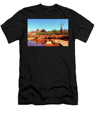 Men's T-Shirt (Athletic Fit) featuring the photograph Red Rock Crossing by Howard Bagley