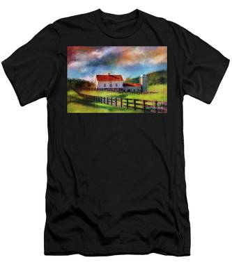 Red Roof Barn Men's T-Shirt (Athletic Fit)