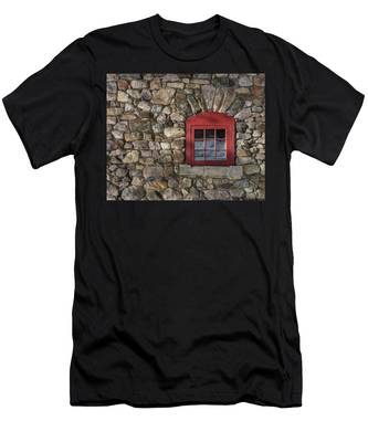 Men's T-Shirt (Athletic Fit) featuring the photograph Red Window by Brad Wenskoski