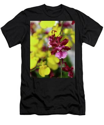 Maroon And Yellow Orchid Men's T-Shirt (Athletic Fit)