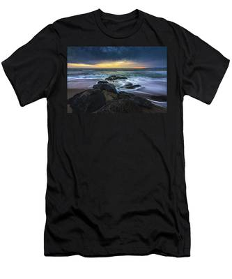 Men's T-Shirt (Athletic Fit) featuring the photograph Redondo Beach Sunset by Andy Konieczny