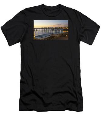 Redondo Pier At Sunset Men's T-Shirt (Athletic Fit)
