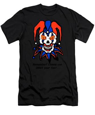 Men's T-Shirt (Athletic Fit) featuring the photograph Remember Clowns Can Smell Your Fear by Jeff Folger