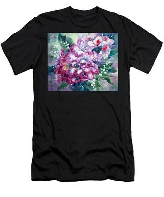 Rhododendron And Lily Of The Valley Men's T-Shirt (Athletic Fit)