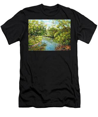 River Through The Forest Men's T-Shirt (Athletic Fit)