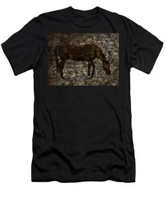 Roan Stallion Men's T-Shirt (Athletic Fit)