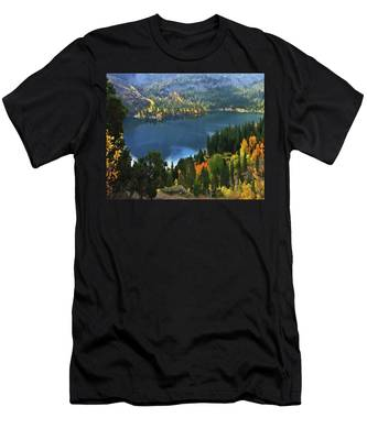 Rock Creek Lake In Fall Men's T-Shirt (Athletic Fit)