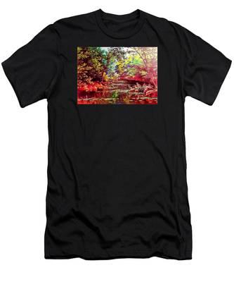 Rocky Rainbow River Men's T-Shirt (Athletic Fit)