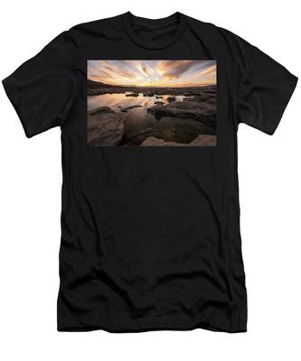 Rocky Shores Of Utah Lake Men's T-Shirt (Athletic Fit)