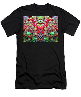 Rosehip Necklace Men's T-Shirt (Athletic Fit)