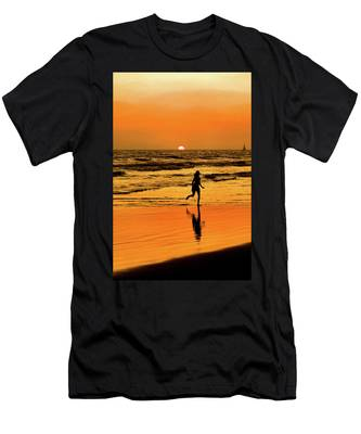 Men's T-Shirt (Athletic Fit) featuring the photograph Run To The Sun by Howard Bagley