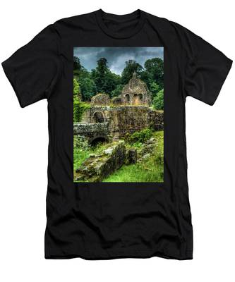 Men's T-Shirt (Athletic Fit) featuring the photograph Rustic Abbey Remains by Dennis Dame