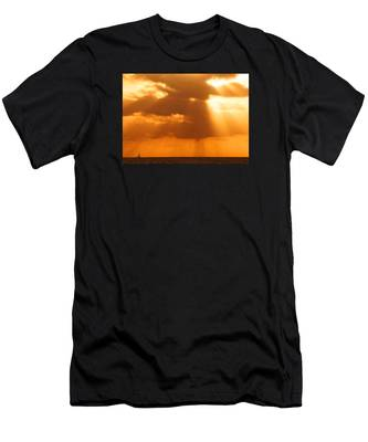 Sailboat Bathed In Hazy Rays Men's T-Shirt (Athletic Fit)