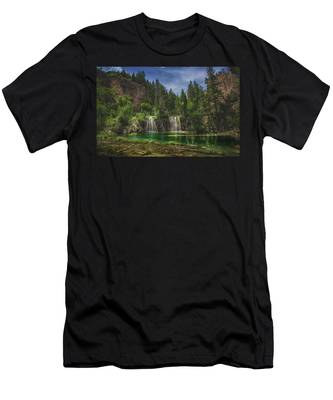 Serene Hanging Lake Waterfalls Men's T-Shirt (Athletic Fit)