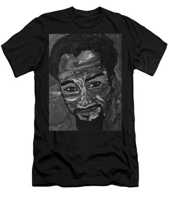 Shane In Black And White Men's T-Shirt (Athletic Fit)