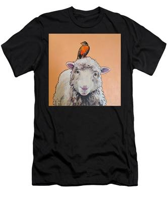 Shelley The Sheep Men's T-Shirt (Athletic Fit)
