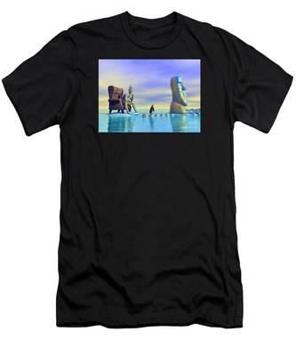 Silent Mind - Surrealism Men's T-Shirt (Athletic Fit)