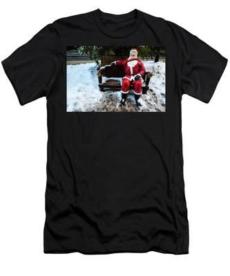 Sit With Santa Men's T-Shirt (Athletic Fit)