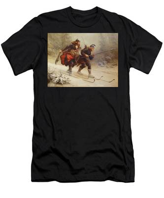 Skiing Birchlegs Crossing The Mountain With The Royal Child Men's T-Shirt (Athletic Fit)