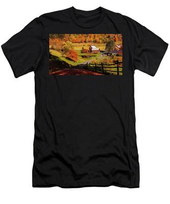Men's T-Shirt (Athletic Fit) featuring the photograph Sleepy Hollow - Pomfret Vermont-2 by Jeff Folger