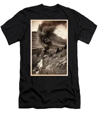 Slow Uphill Climb  Men's T-Shirt (Athletic Fit)