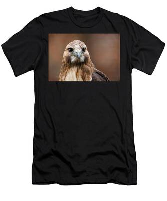 Men's T-Shirt (Athletic Fit) featuring the photograph Smiling Bird Of Prey by Dennis Dame