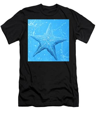 Starfish In Blue Men's T-Shirt (Athletic Fit)