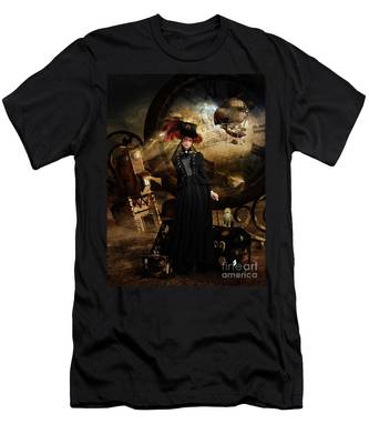 Steampunk Time Traveler Men's T-Shirt (Athletic Fit)