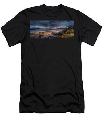 Storm Watch Over Malibu - Panarama  Men's T-Shirt (Athletic Fit)