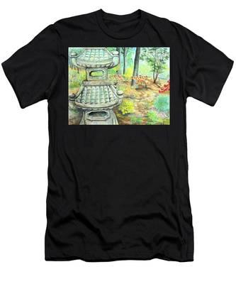 Strolling Through The Japanese Garden Men's T-Shirt (Athletic Fit)